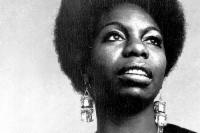black and white image of Nina Simone