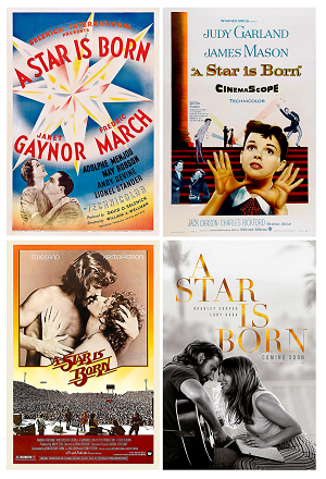 4 posters for A Star Is Born