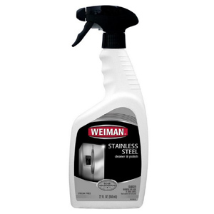 bottle of Weiman cleaner and polish